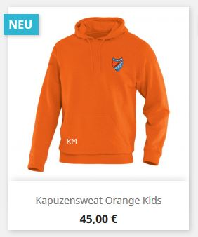 Kapuzensweat orange